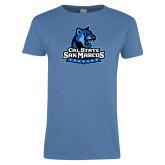 Ladies Arctic Blue T Shirt-Primary Logo