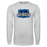White Long Sleeve T Shirt-Secondary Logo