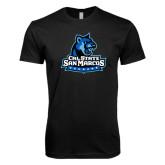 Next Level SoftStyle Black T Shirt-Primary Logo