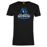 Ladies Black T Shirt-Primary Logo