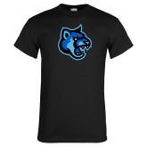 Black T Shirt-Cougar Head