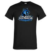 Black T Shirt-Primary Logo Distressed