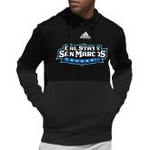 Adidas Black Team Issue Hoodie-Tertiary Logo