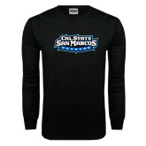 Black Long Sleeve TShirt-Tertiary Logo