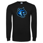 Black Long Sleeve TShirt-Cougar Head