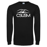 Black Long Sleeve T Shirt-CSUSM with University
