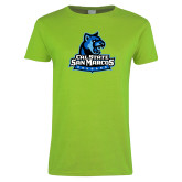 Ladies Lime Green T Shirt-Primary Logo