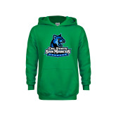 Youth Kelly Green Fleece Hoodie-Primary Logo