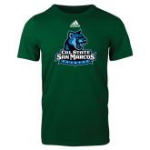 Adidas Dark Green Logo T Shirt-Primary Logo