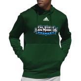 Adidas Dark Green Team Issue Hoodie-Tertiary Logo