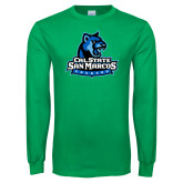 Kelly Green Long Sleeve T Shirt-Primary Logo
