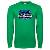 Kelly Green Long Sleeve T Shirt-Secondary Logo