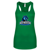 Next Level Ladies Kelly Green Ideal Racerback Tank-Primary Logo