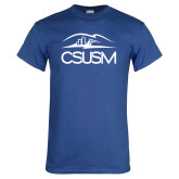 Royal T Shirt-CSUSM with University