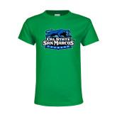 Youth Kelly Green T Shirt-Secondary Logo