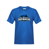 Youth Royal T Shirt-Secondary Logo