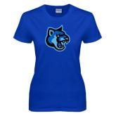 Ladies Royal T Shirt-Cougar Head