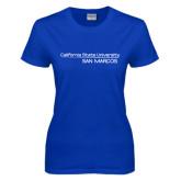 Ladies Royal T Shirt-California State University San Marcos Word Mark