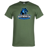 Military Green T Shirt-Primary Logo