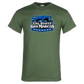Military Green T Shirt-Secondary Logo