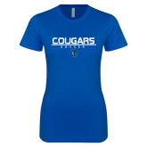 Next Level Ladies SoftStyle Junior Fitted Royal Tee-Soccer Stacked