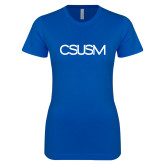 Next Level Ladies SoftStyle Junior Fitted Royal Tee-CSUSM