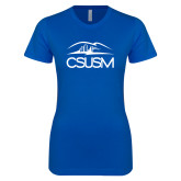 Next Level Ladies SoftStyle Junior Fitted Royal Tee-CSUSM with University