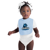 Light Blue Baby Bib-Primary Logo