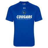 Under Armour Royal Tech Tee-Basketball Stacked
