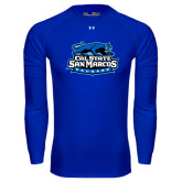 Under Armour Royal Long Sleeve Tech Tee-Secondary Logo