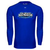 Under Armour Royal Long Sleeve Tech Tee-Tertiary Logo