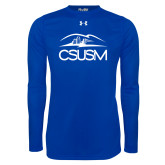 Under Armour Royal Long Sleeve Tech Tee-CSUSM with University