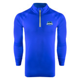 Under Armour Royal Tech 1/4 Zip Performance Shirt-Secondary Logo