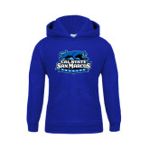 Youth Royal Fleece Hoodie-Secondary Logo