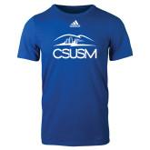 Adidas Royal Logo T Shirt-CSUSM with University