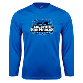 Performance Royal Longsleeve Shirt-Secondary Logo