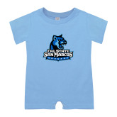 Light Blue Infant Romper-Primary Logo