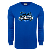 Royal Long Sleeve T Shirt-Secondary Logo