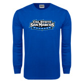 Royal Long Sleeve T Shirt-Tertiary Logo