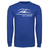 Royal Long Sleeve T Shirt-California State University San Marcos