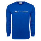 Royal Long Sleeve T Shirt-California State University San Marcos Flat