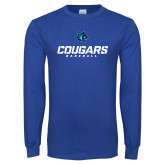 Royal Long Sleeve T Shirt-Baseball Stacked
