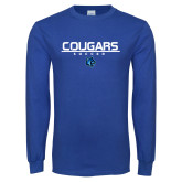Royal Long Sleeve T Shirt-Soccer Stacked