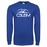 Royal Long Sleeve T Shirt-CSUSM with University