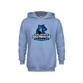 Youth Light Blue Fleece Hoodie-Primary Logo