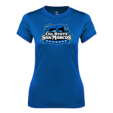 Ladies Syntrel Performance Royal Tee-Secondary Logo