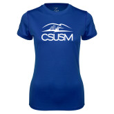 Ladies Syntrel Performance Royal Tee-CSUSM with University
