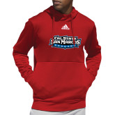 Adidas Red Team Issue Hoodie-Primary Logo