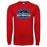 Red Long Sleeve T Shirt-Secondary Logo