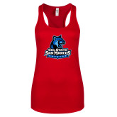Next Level Ladies Red Ideal Racerback Tank-Primary Logo